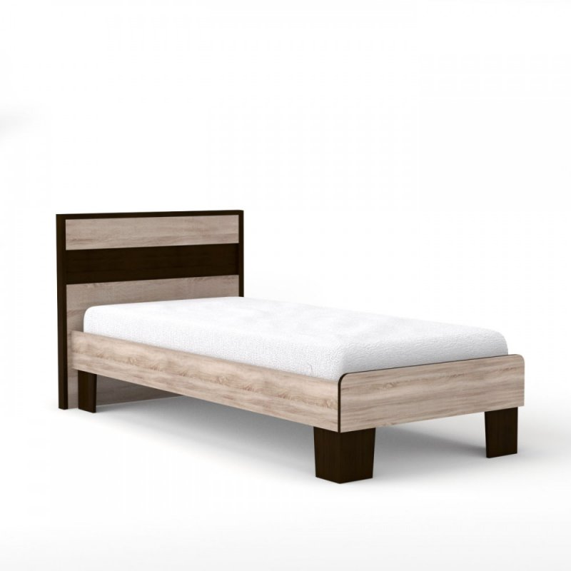 "Kρεβάτι ""SCARLET 90"" μονό χρώματος σονόμα-βέγγε 105x205x90,5"