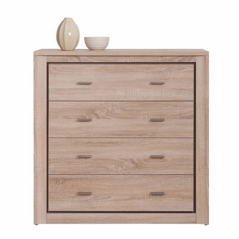"""Συρταριέρα """"LARSA"""" χρώματος sonoma-δρυς 96,5x43,5x96"""