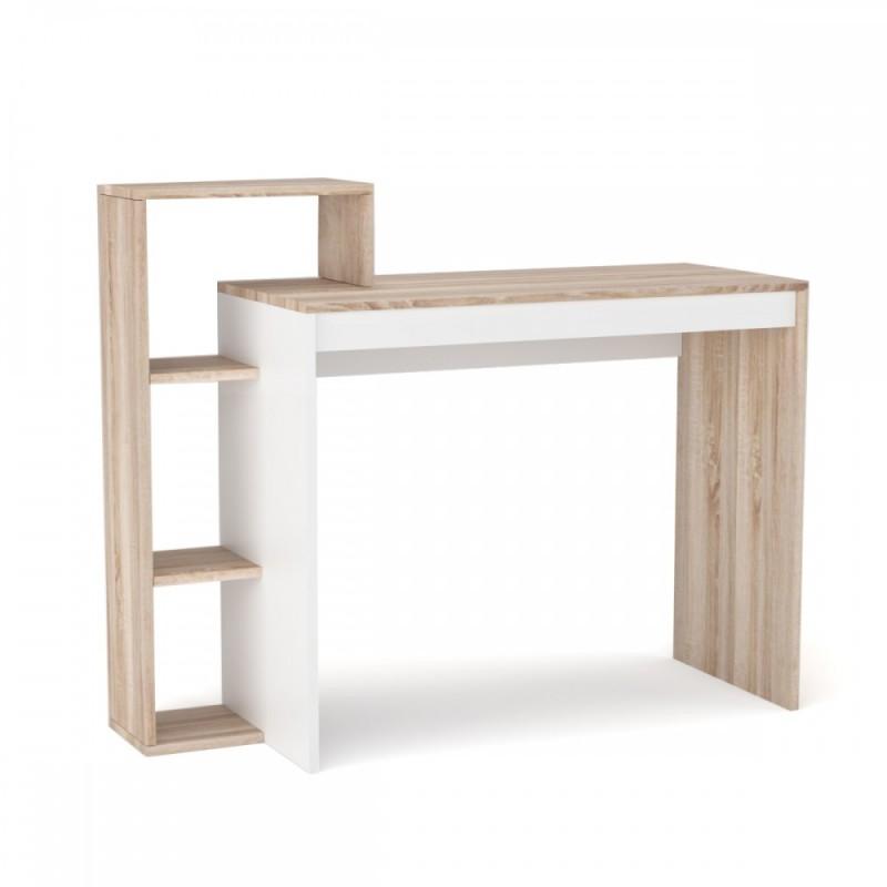 """Γραφείο """"110"""" σε χρώμα σονόμα-λευκό 110x40x90"""