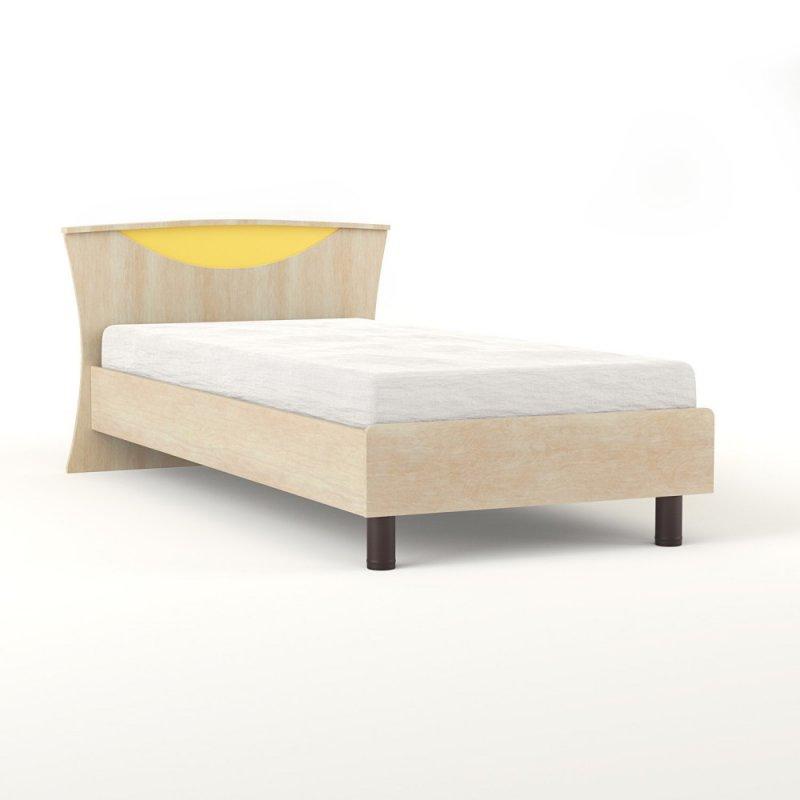 """Κρεβάτι """"DOMINO 90"""" μονό σε χρώμα δρυς-κίτρινο 109x147x205"""
