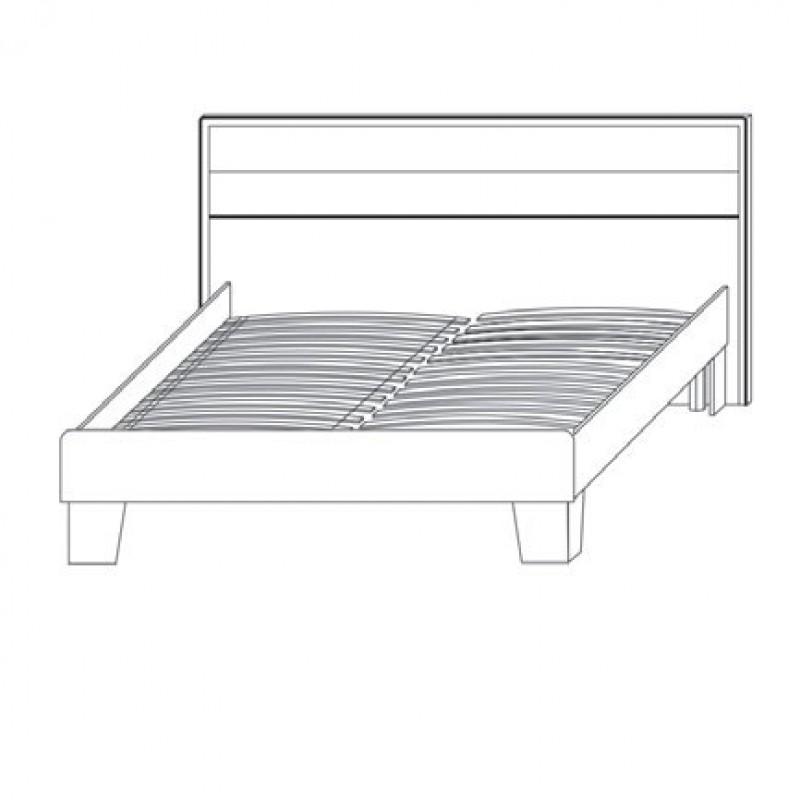 "Kρεβάτι ""SCARLET  140"" διπλό χρώματος σονόμα-βέγγε 155x205x90,5"