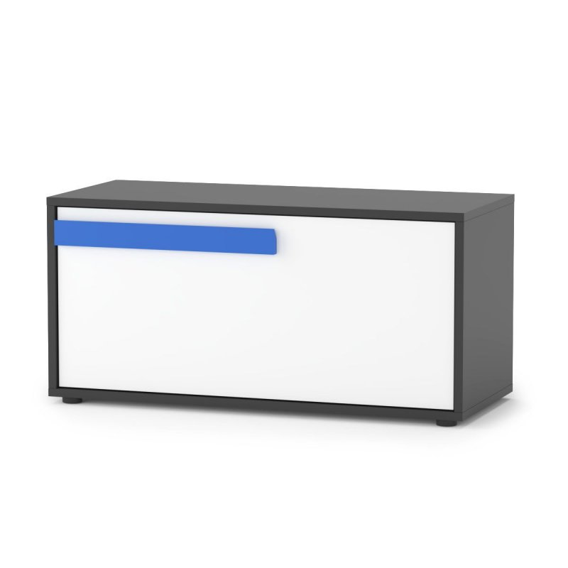 """Κουτί αποθηκευτικό """"ALEX"""" σε χρώμα γραφίτης δρύς σονόμα λευκό 84x35x39"""