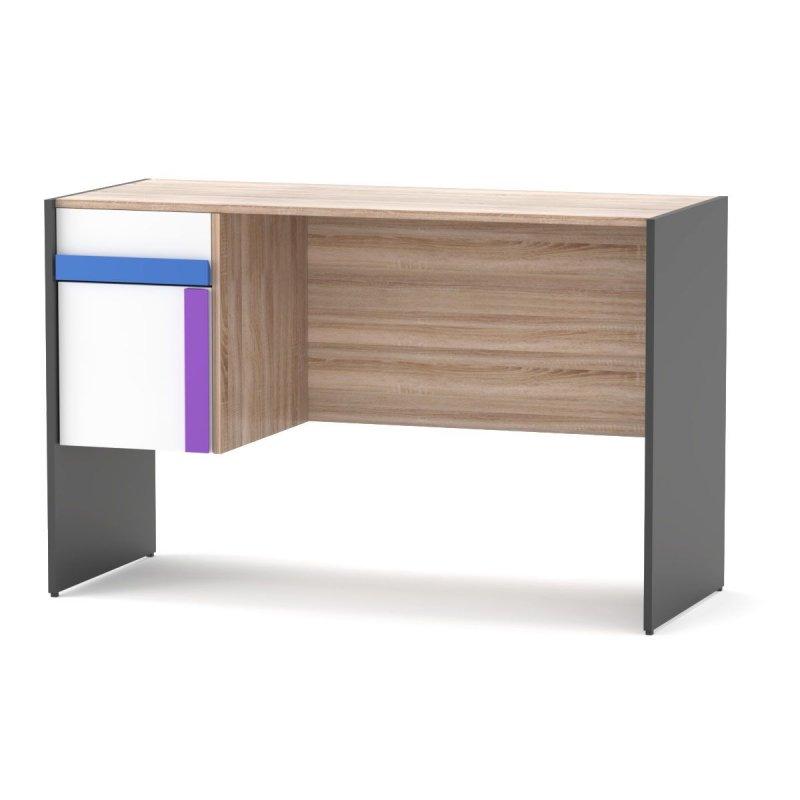 """Γραφείο """"ALEX"""" σε χρώμα γραφίτης δρυς σονόμα λευκό 124x60x76"""
