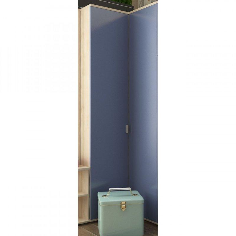 """Ντουλάπα """"DOMINO"""" δίφυλλη γωνιακή σε μπλε χρώμα 97x52x211"""