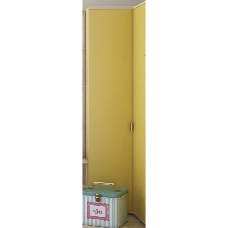 """Ντουλάπα """"DOMINO"""" δίφυλλη γωνιακή  σε κίτρινο χρώμα 97x52x211"""