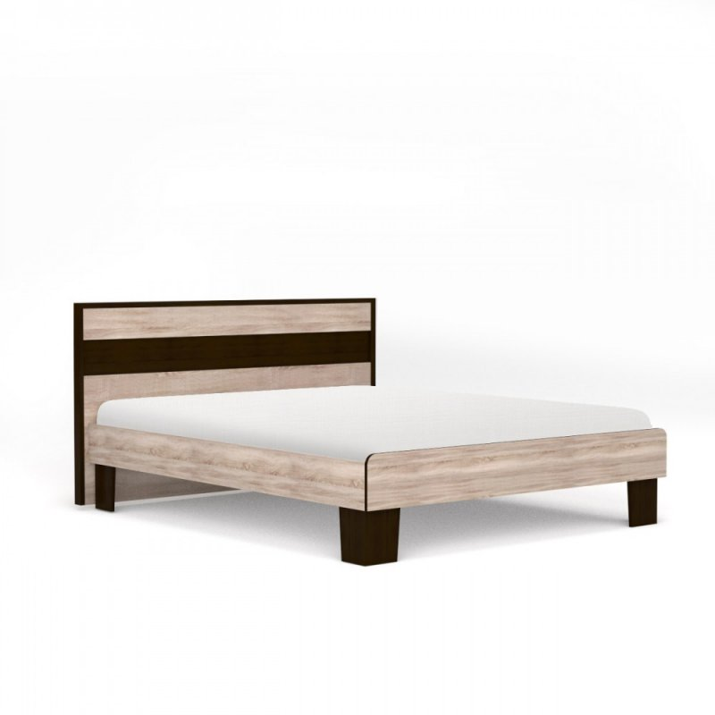 "Kρεβάτι ""SCARLET 160"" διπλό χρώματος σονόμα-βέγγε 175x205x90,5"