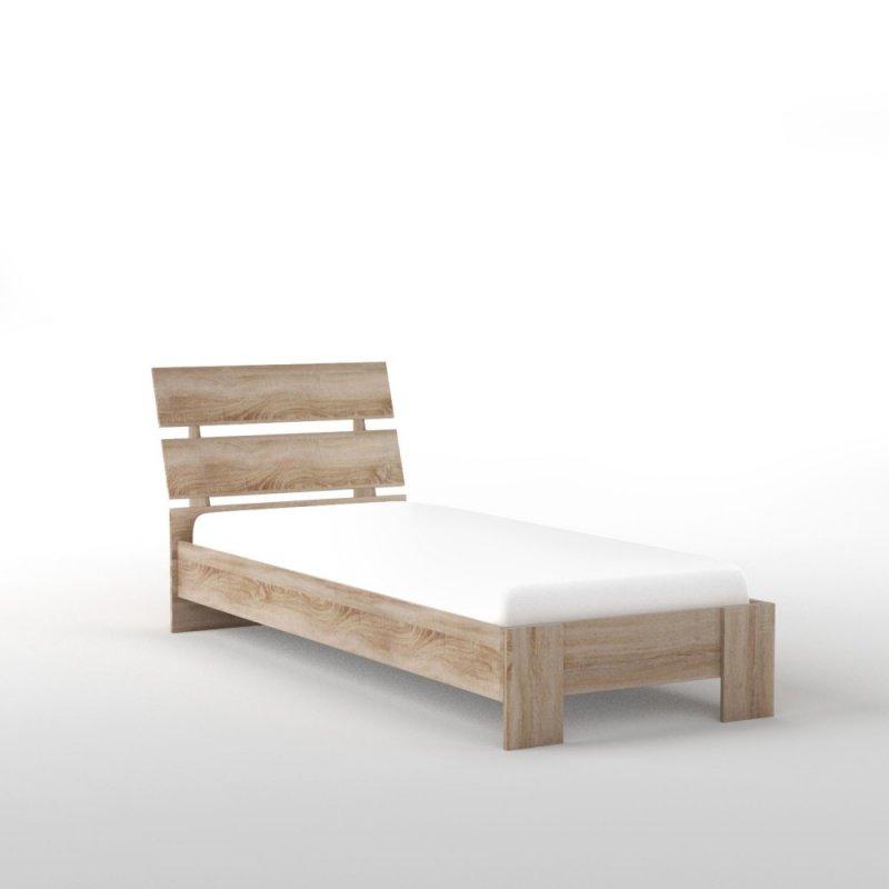 """Κρεβάτι """"GREENWICH"""" μονό σε χρώμα σονόμα-δρυς 96x220x93"""