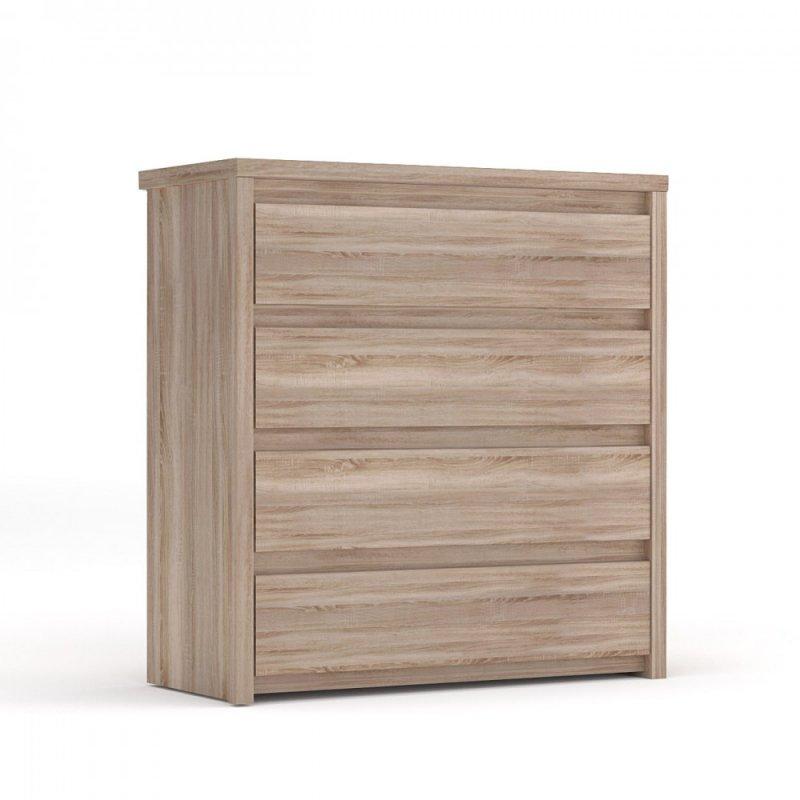 """Συρταριέρα """"NORTON"""" σε χρώμα σονόμα-δρυς 87x40x91"""