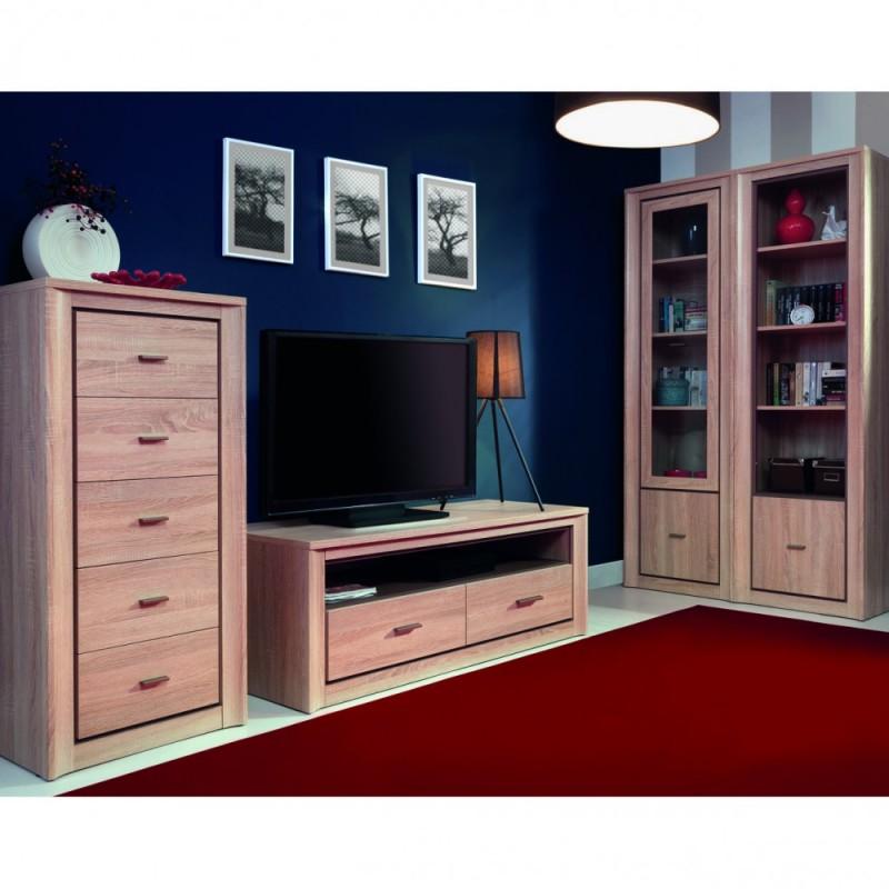 """Έπιπλο TV """"LARSA"""" σε χρώμα σονόμα-δρυς 137x50x43"""
