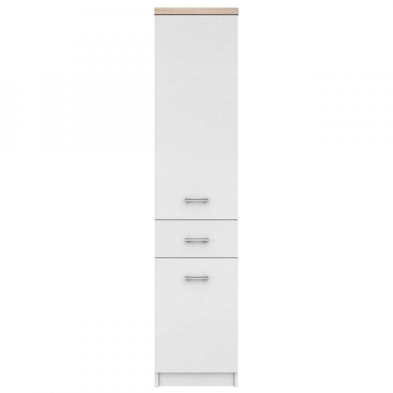 """Ντουλάπα """"TOP MIX"""" σε χρώμα λευκό-σονόμα 40x33x183"""
