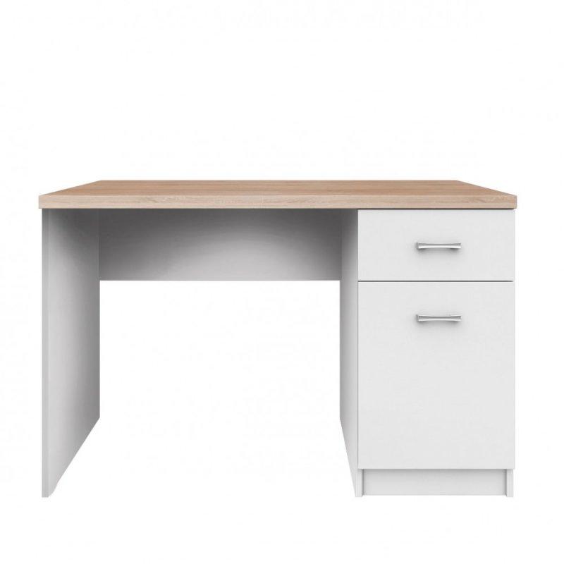 """Γραφείο """"TOP MIX"""" σε χρώμα λευκό-σονόμα 120x55x77"""