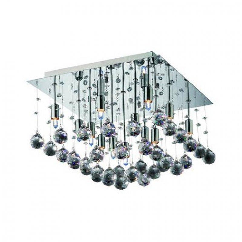 Φωτιστικό οροφής 9 φωτο μεταλλικό με κρύσταλλα 50x50x38