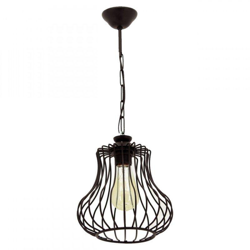 """Φωτιστικό οροφής """"DEREN"""" μονόφωτο μεταλλικό σε χρώμα μαύρο 22x22x55"""