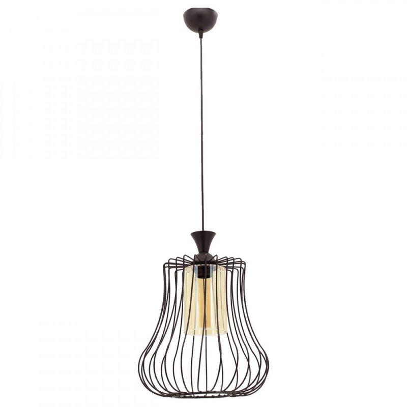 """Φωτιστικό οροφής """"DEREN"""" μονόφωτο μεταλλικό σε χρώμα μαύρο 30x30x85"""