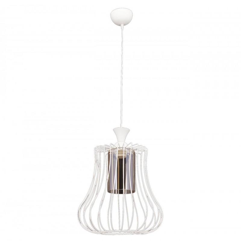 """Φωτιστικό οροφής """"DEREN"""" μονόφωτο μεταλλικό σε χρώμα λευκό 30x30x85"""