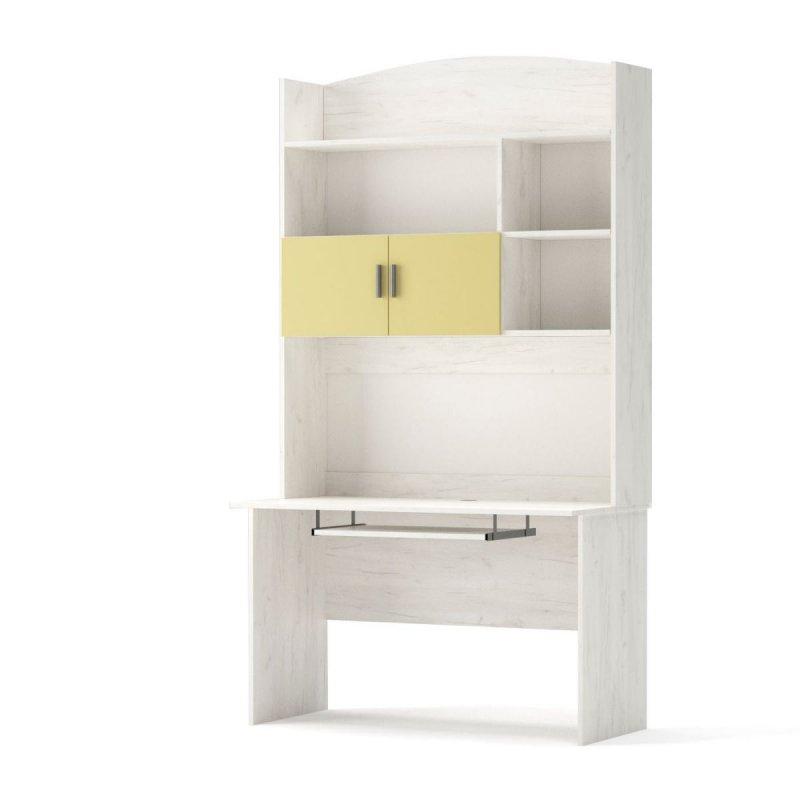 """Σύνθεση γραφείου """"DOMINO"""" σε χρώμα χρυσό δρυς-κίτρινο 120x60x220"""
