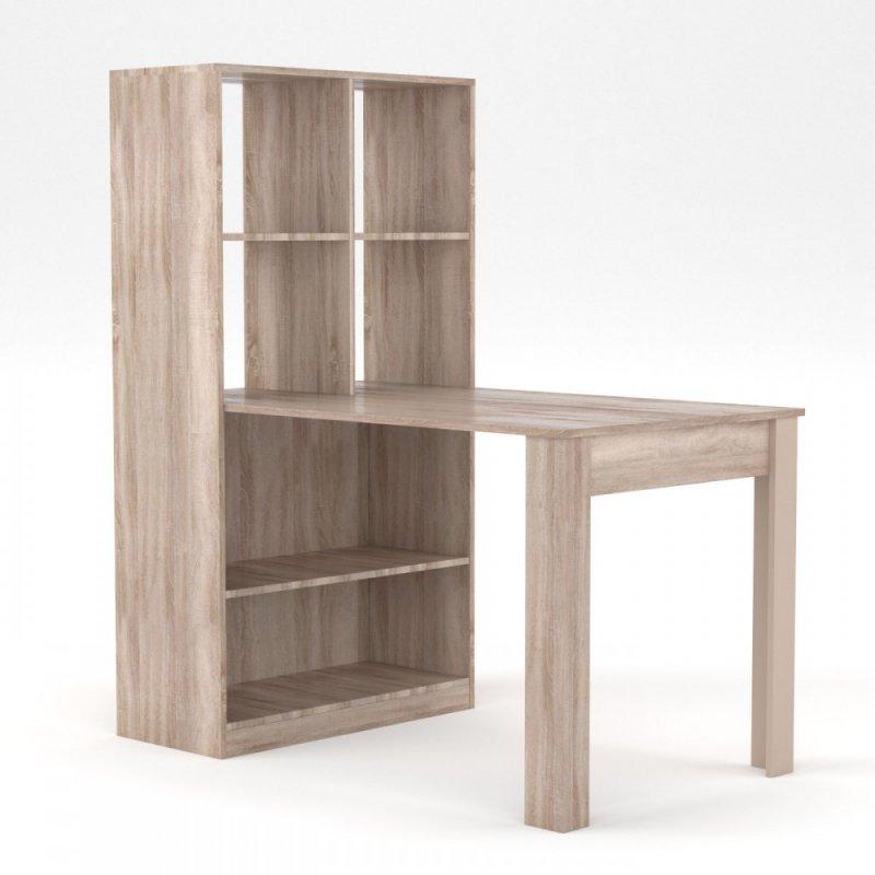 Γραφείο-τραπέζι σε σονόμα-δρυς χρώμα 80x134x151
