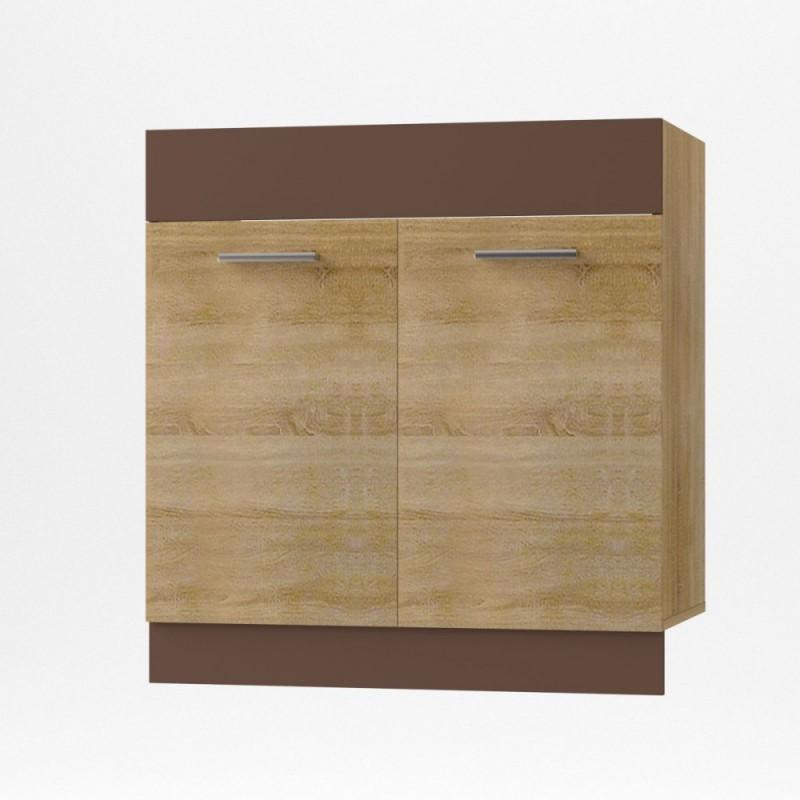 """Κάτω ντουλάπι νεροχύτη """"ALINA"""" σε χρώμα σονόμα-μόκα 80x44,5x85"""