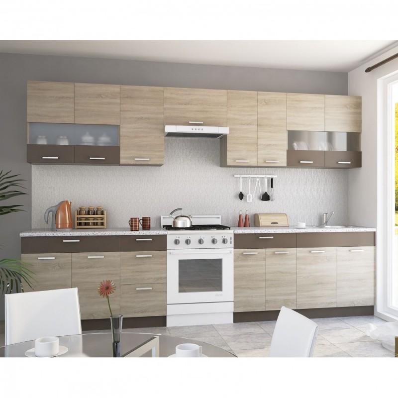 """Πάνω ντουλάπι κουζίνας """"ALINA"""" σε χρώμα σονόμα 60x30,5x71,8"""