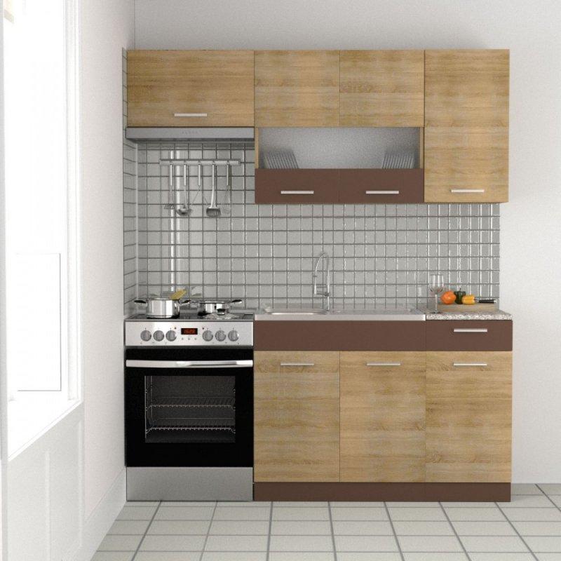 """Κουζίνα """"ALINA"""" σετ 5τμχ σε χρώμα σονόμα μόκα 120/180x30.5/44.5"""
