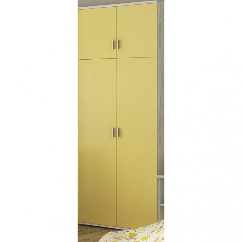 """Νουλάπα """"DOMINO"""" δίφυλλη σε χρώμα δρυς-κίτρινο 80x52x211,3"""