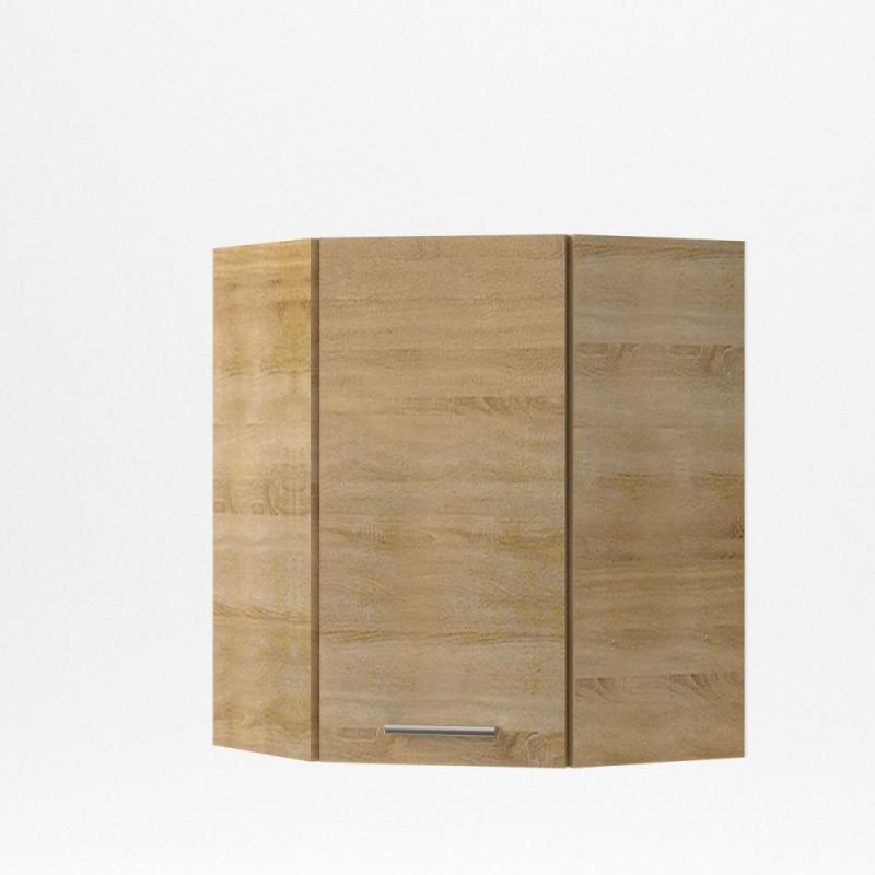 """Πάνω γωνιακό ντουλάπι κουζίνας """"ALINA"""" σε χρώμα σονόμα (60x60)x30,5x71,8"""
