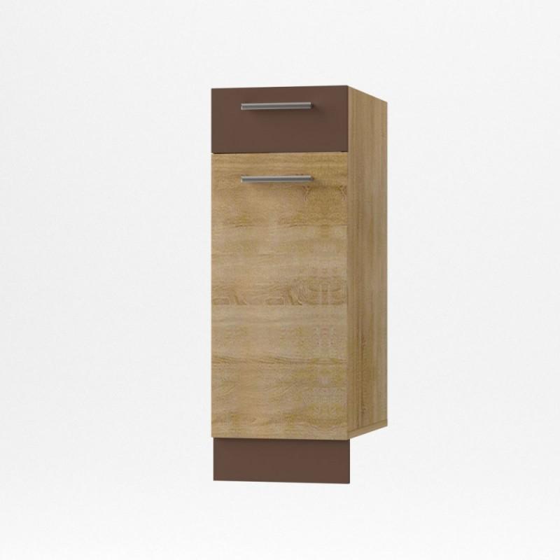 """Κάτω ντουλάπι κουζίνας με συρτάρι """"ALINA"""" σε χρώμα σονόμα-μόκα 30x44,5x85"""