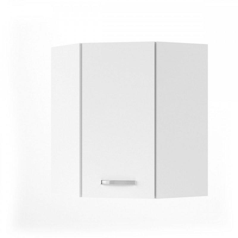 """Πάνω γωνιακό ντουλάπι κουζίνας """"CHARLOTΤE"""" σε χρώμα λευκό 60x60x71.8"""