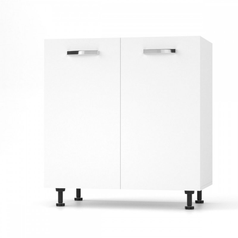 """Κάτω ντουλάπι νεροχύτη """"CHARLOTΤE"""" σε χρώμα λευκό 80x46.5x82"""