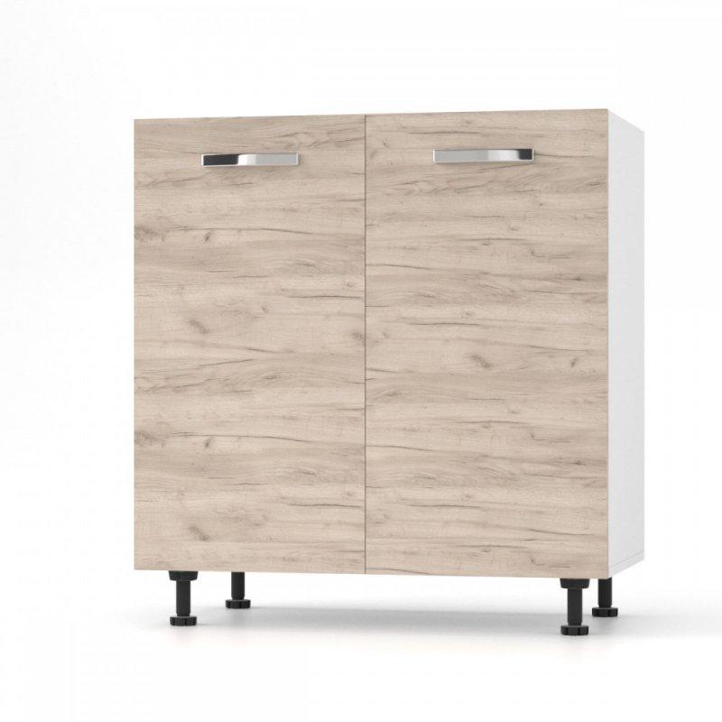 """Κάτω ντουλάπι νεροχύτη """"CHARLOTΤE"""" σε χρώμα δρυς 80x46.5x82"""