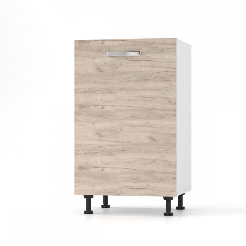"""Κάτω ντουλάπι κουζίνας """"CHARLOTΤE"""" σε χρώμα δρυς 50x46.5x82"""