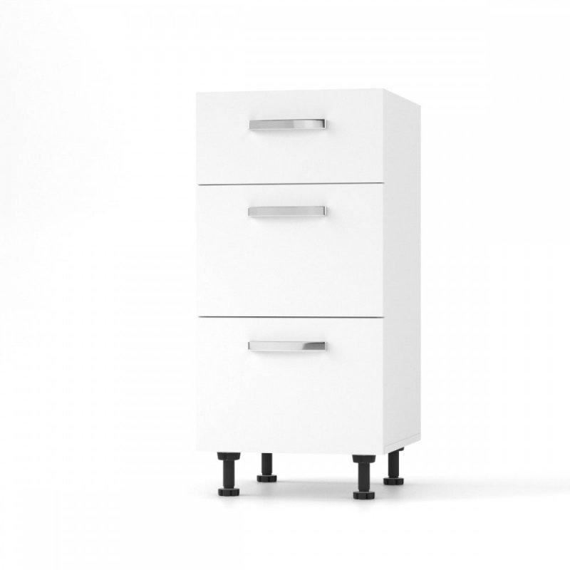 """Κάτω συρταριέρα κουζίνας """"CHARLOTΤE"""" σε λευκό χρώμα 40x46.5x82"""