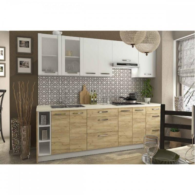 """Κάτω συρταριέρα κουζίνας """"CHARLOTΤE"""" σε χρώμα δρυς 40x46.5x82"""