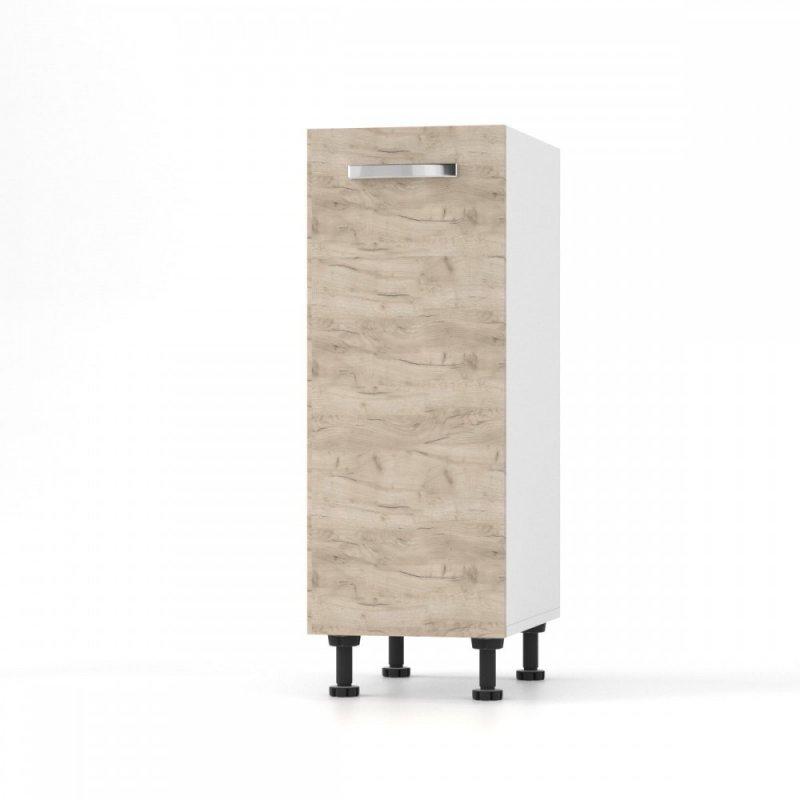 """Κάτω ντουλάπι κουζίνας """"CHARLOTTE"""" σε χρώμα δρυς 30x46.5x82"""