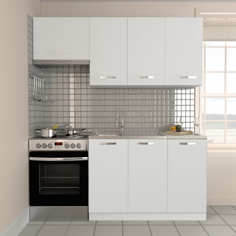 """Κουζίνα """"CHARLOTTE"""" σετ 5τμχ σε χρώμα λευκό 180/120x30.5/46.5"""