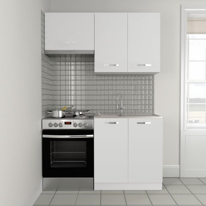 """Κουζίνα """"CHARLOTTE"""" σετ 3τμχ σε χρώμα λευκό 140/80x30.5/46.5"""