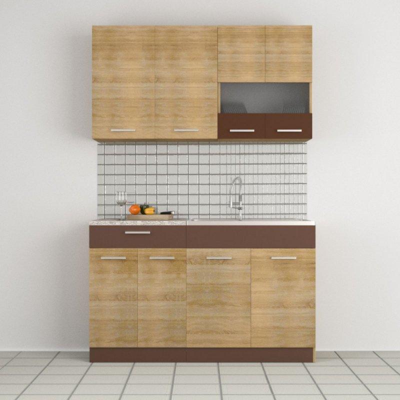 """Κουζίνα """"ALINA"""" σετ 4τμχ σε χρώμα σονόμα μόκα 140/140x30.5/44.5"""