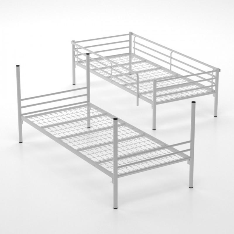 """Κρεβάτι-κουκέτα """"BUNKED"""" μεταλλική σε γκρι χρώμα 93x205x150"""