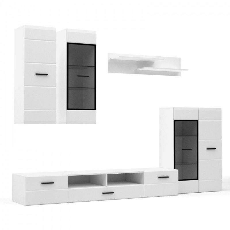 """Σύνθεση TV """"SNOW"""" σε χρώμα λευκό με μαύρο 276x44x210"""