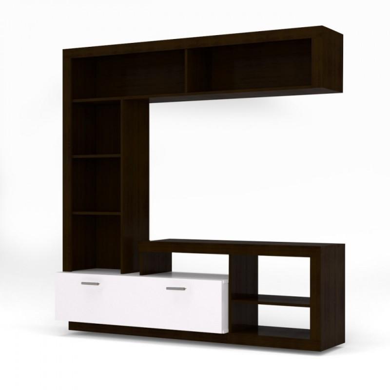 """Σύνθεση TV """"FLOKS"""" σε χρώμα βέγγε (σοκολά)-λευκό 170x41x170"""