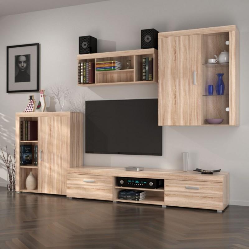 """Σύνθεση TV """"DAMIS"""" σε χρώμα σονόμα-δρυς 328x45x210"""