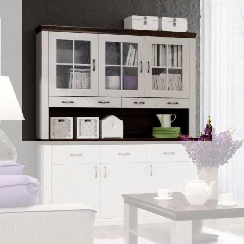 """Βιτρίνα κρεμαστή """"LAVENDA"""" σε λευκό χρώμα 60,5x34x112"""