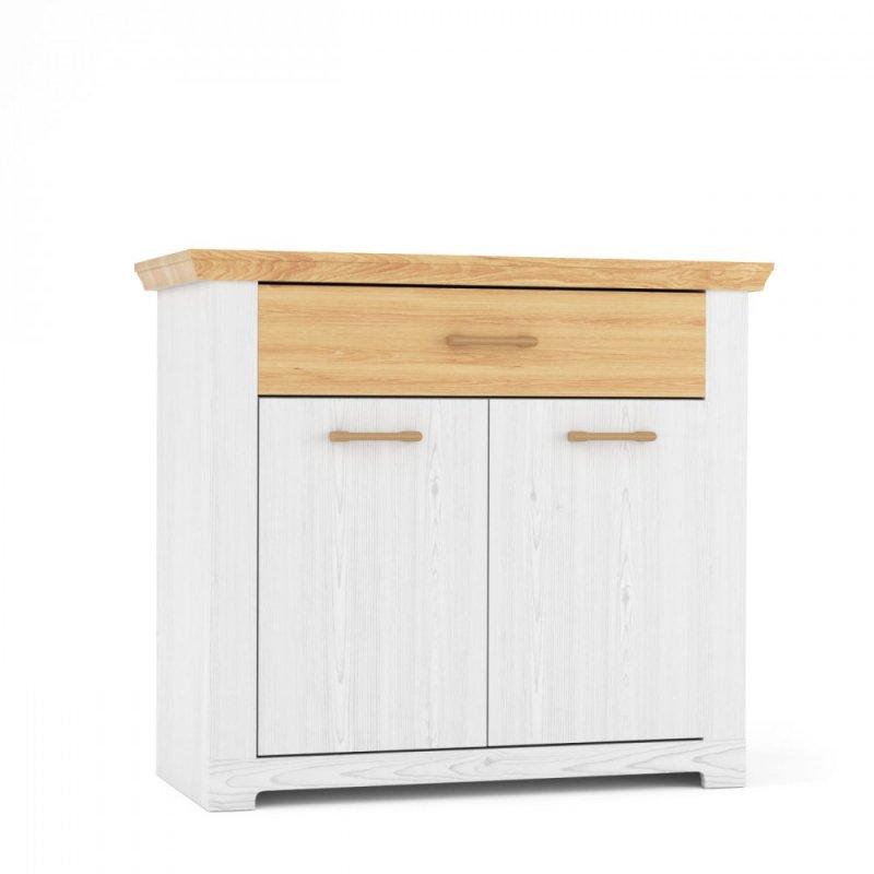 """Μπουφές """"ARSAL"""" σε χρώμα νορβηγικό λευκό-δρυς 103.4x45.80x90.50"""