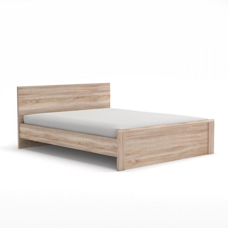 """Κρεβάτι """"NORTON 120"""" ημιδιπλό  χρώματος σονόμα-δρυς 125x205x85"""