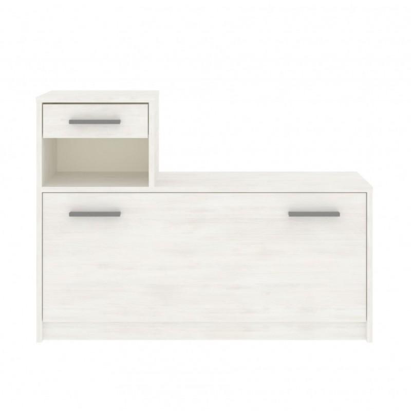 """Παπουτσοθήκη-ντουλάπι """"LUNA"""" σε χρώμα λευκό 100x28x73"""