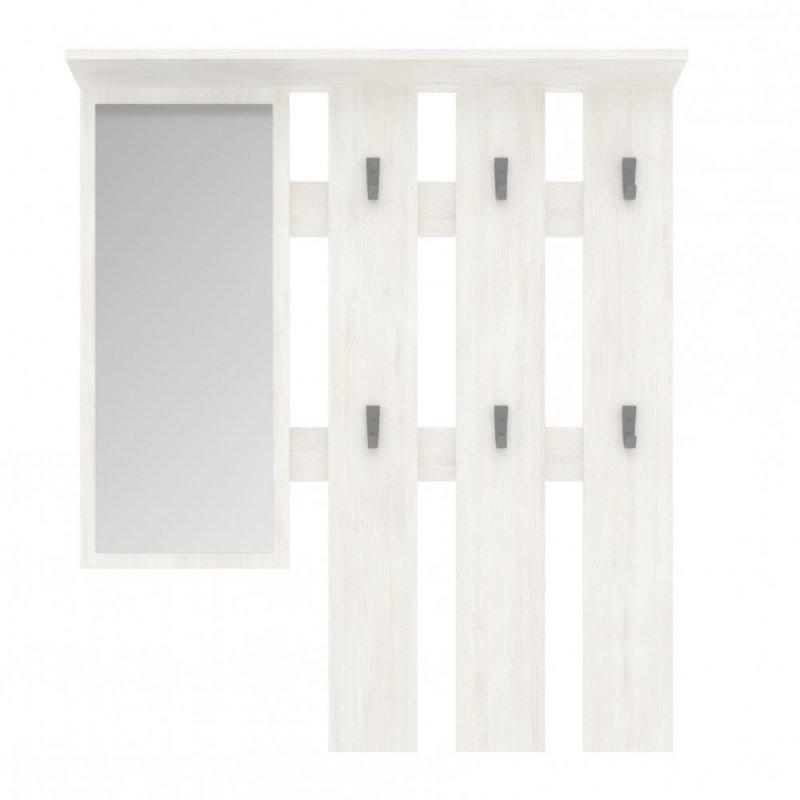 """Κρεμάστρα """"LUNA"""" με καθρέπτη σε χρώμα λευκό 100x15x113,2"""