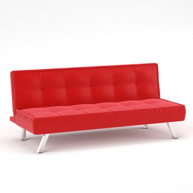 """Καναπές-κρεβάτι """"CHIC"""" υφασμάτινος σε κόκκινο χρώμα 175x83x74"""