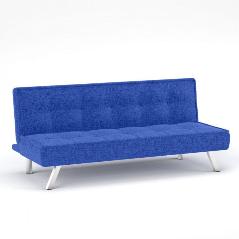 """Καναπές-κρεβάτι """"CHIC"""" υφασμάτινος σε μπλε χρώμα 175x83x74"""
