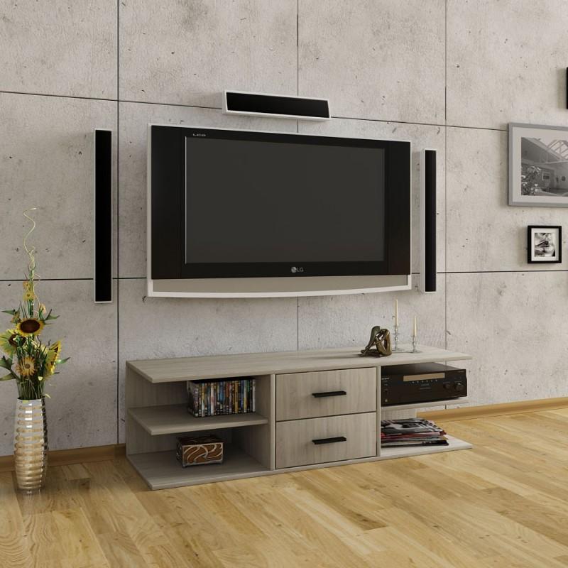 """Έπιπλο τηλεόρασης """"KEMI"""" σε χρώμα σονόμα 120x38x38"""