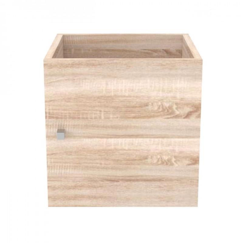 """Κουτί με πορτάκι """"SHELVING"""" σε χρώμα σονόμα 37x34x37"""